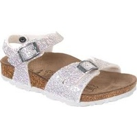 TUVALU BF WHITE GLITTER POINTS SILVER (KIDS) - 24 - NARROW