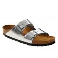 ARIZONA NL METALLIC SILVER SOFT FOOTBED