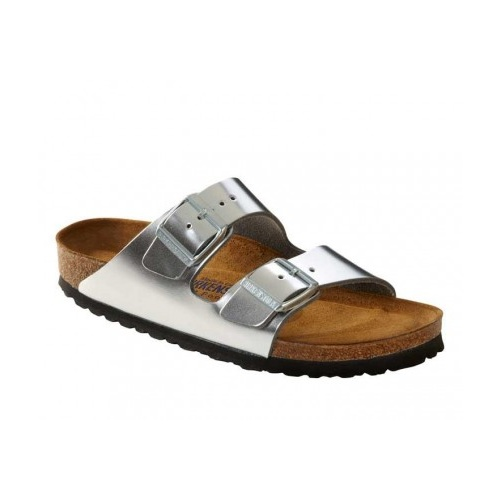 ARIZONA NL METALLIC SILVER SOFT FOOTBED-36